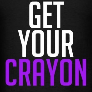 Get Your Crayon Purple (White) Hoodies - Men's T-Shirt