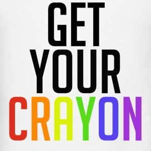 Get Your Crayon Rainbow (Black) Hoodies - Men's T-Shirt
