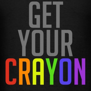 Get Your Crayon Rainbow (Grey) Hoodies - Men's T-Shirt