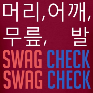 머리, 어깨, 무릎, 발 SWAG CHECK (White) Hoodies - Men's T-Shirt