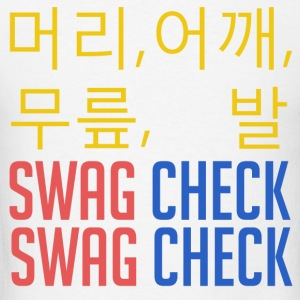 머리, 어깨, 무릎, 발 SWAG CHECK (Yellow) Hoodies - Men's T-Shirt