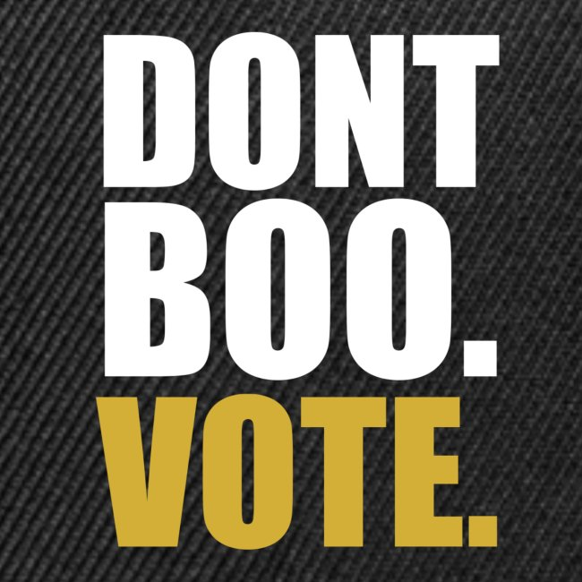 Obama Dont Boo Vote black and gold Hoodie M
