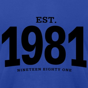 est. 1981 Nineteen Eighty One - Men's T-Shirt by American Apparel