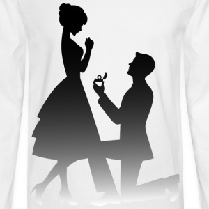 Wedding Proposal (dd)++ T-Shirts - Men's Long Sleeve T-Shirt