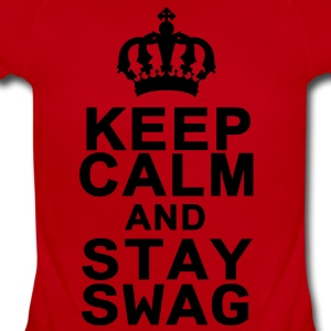 Keep Calm And Stay Swag Kids' Shirts - Short Sleeve Baby Bodysuit