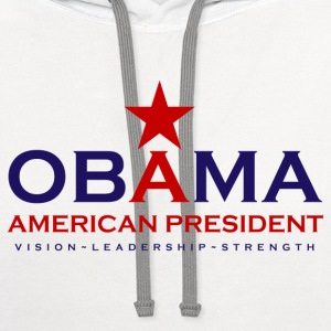 Obama american President - Contrast Hoodie
