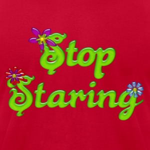 Stop Staring Hoodies - Men's T-Shirt by American Apparel