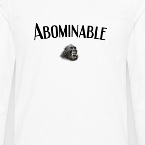 Yeti or Abominable Snowman - Men's Premium Long Sleeve T-Shirt
