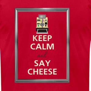 Keep Calm and say cheese Long Sleeve Shirts - Men's T-Shirt by American Apparel