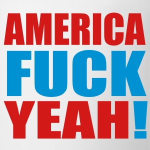 America Fuck Yeah! Vector (Pick Colors) T-Shirts - Coffee/Tea Mug