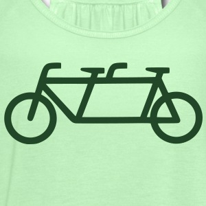 Men's Tandem Bicycle T-shirt - Women's Flowy Tank Top by Bella