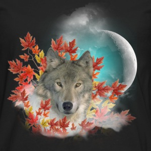 Wolf Harvest Moon Kids' Shirts - Men's Premium Long Sleeve T-Shirt