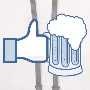 Like Beer - Facebook Parody T-Shirts - Contrast Hoodie