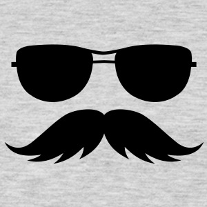 sunglasses and mustache Sweatshirts - Men's Premium Long Sleeve T-Shirt