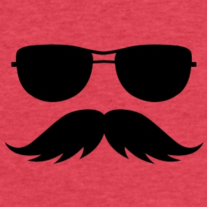 sunglasses and mustache Tanks - Fitted Cotton/Poly T-Shirt by Next Level