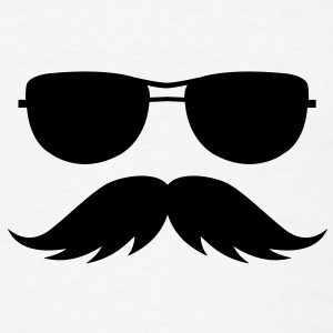 sunglasses and mustache Accessories - Men's T-Shirt