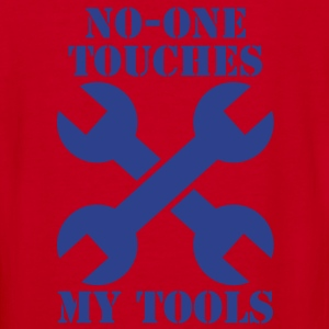NO-ONE TOUCHES MY TOOLS ! spanners crossed Zip Hoodies/Jackets - Women's V-Neck T-Shirt