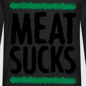 MEAT SUCKS Bags  - Men's Premium Long Sleeve T-Shirt