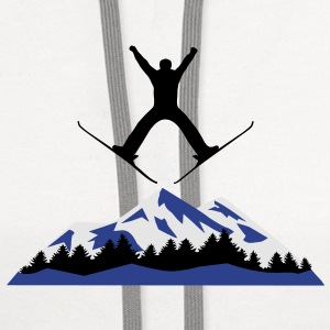 Ski, skiing, mountains, winter Accessories - Contrast Hoodie