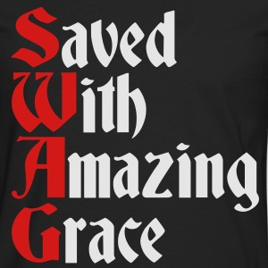 Saved With Amazing Grace (SWAG) Hoodies - Men's Premium Long Sleeve T-Shirt