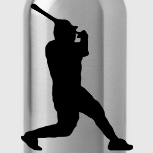 baseballer_schlag_1_farbig Long Sleeve Shirts - Water Bottle