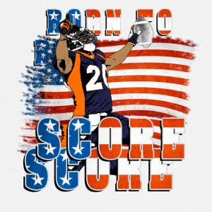 Born to Score Football Player 02 Accessories - Men's Premium T-Shirt