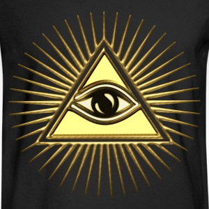 Pyramid & All-Seeing Eye - Symbol of Omniscience Women's T-Shirts - Men's Long Sleeve T-Shirt
