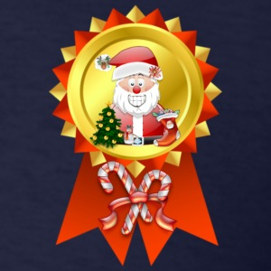 Christmas Rosette Santa - Men's T-Shirt