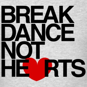 Break Dance Not Hearts Crewneck by AiReal - Men's T-Shirt