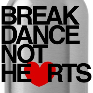 Break Dance Not Hearts Crewneck by AiReal - Water Bottle