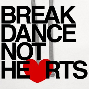 Break Dance Not Hearts Womens Tee Shirt by AiReal  - Contrast Hoodie
