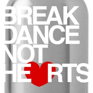 Break Dance Not Hearts Hoody Sweatshirtby AiReal  - Water Bottle