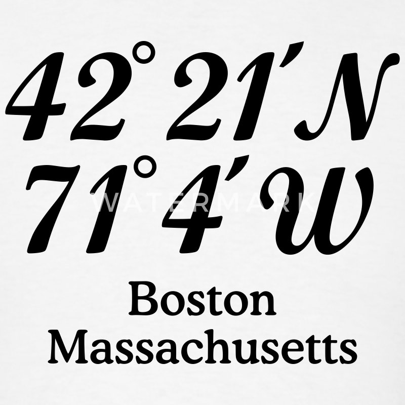Boston T-Shirt Coordinates - Men's T-Shirt