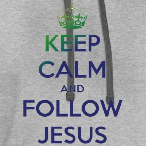 Keep Calm and Follow Jesus T-Shirts - Contrast Hoodie