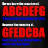The Meaning of abcdefg T-Shirts - Men's T-Shirt