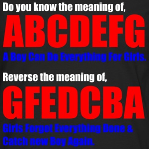 The Meaning of abcdefg Hoodies - Men's Premium Long Sleeve T-Shirt