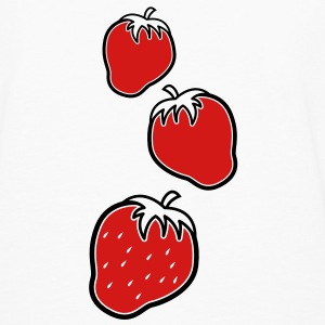 Three 3 cute strawberry fruit fruits  Kids' Shirts - Men's Premium Long Sleeve T-Shirt