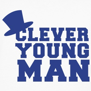 clever young man with a top hat educated Kids' Shirts - Men's Premium Long Sleeve T-Shirt