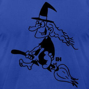 Witch on a broom Hoodies - Men's T-Shirt by American Apparel