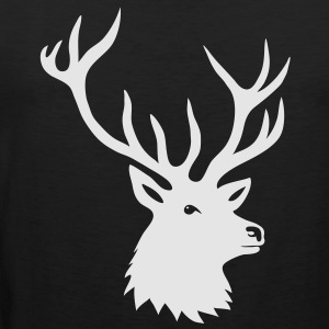stag night bachelor deer moose elk antler antlers Hoodies - Men's Premium Tank