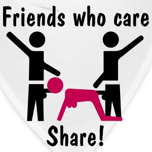Friends Who Care Share! T-Shirts - Bandana