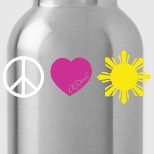 Peace, Love, PI Ladies Tee Shirt by AiReal Apparel - Water Bottle