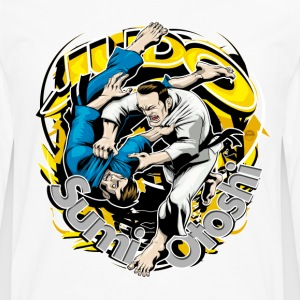 Judo Throw Design White Kids Sumi Otoshi - Men's Premium Long Sleeve T-Shirt
