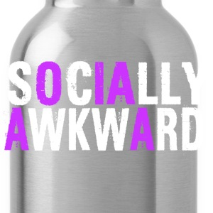 SOCIALLY AWKWARD WHITE AND PURPLE T-Shirts - Water Bottle