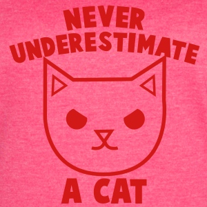 never underestimate a cat angry kitty pussy cat Tanks - Women's Vintage Sport T-Shirt