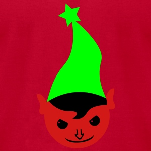 the evil red elves elf green hat and angry smile Tanks - Men's T-Shirt by American Apparel