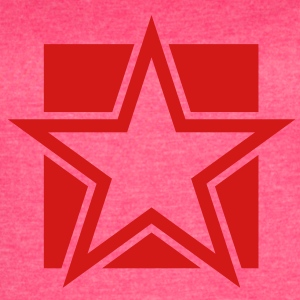 funky red star on a square Tanks - Women's Vintage Sport T-Shirt