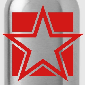 funky red star on a square Tanks - Water Bottle