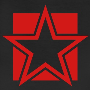 funky red star on a square Tanks - Leggings