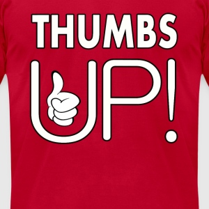 THUMBS UP Hoodies - Men's T-Shirt by American Apparel